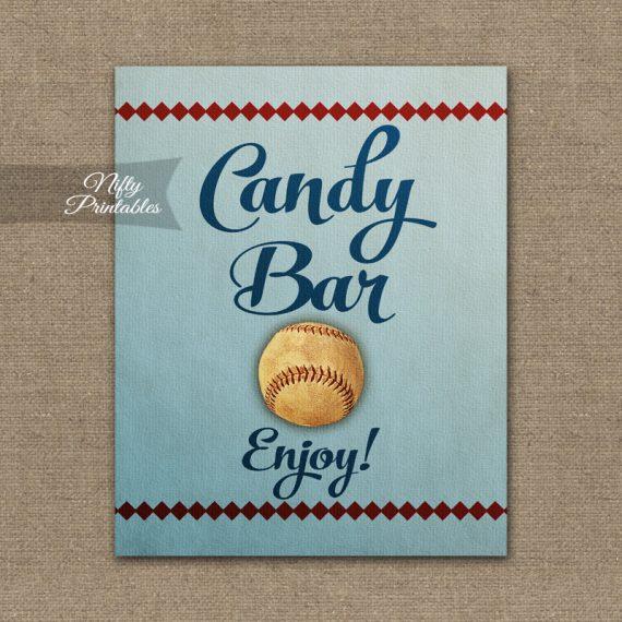 Candy Buffet Sign - Baseball
