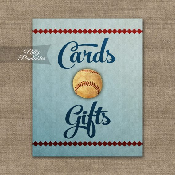 Cards & Gifts Sign - Baseball