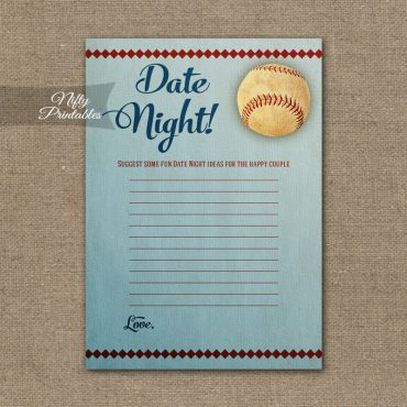 Bridal Shower Date Night Ideas - Baseball