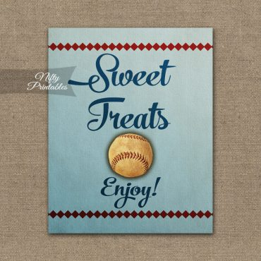 Sweet Treats Dessert Sign - Baseball
