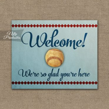 Welcome Sign - Baseball
