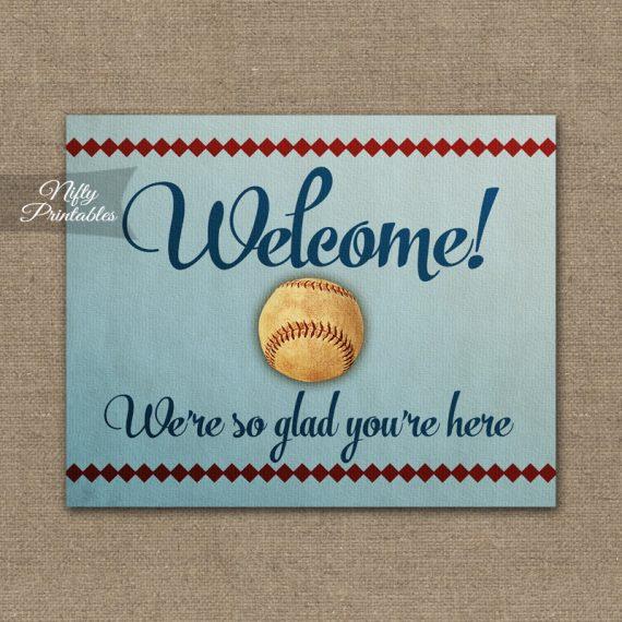 Welcome Sign - Baseball