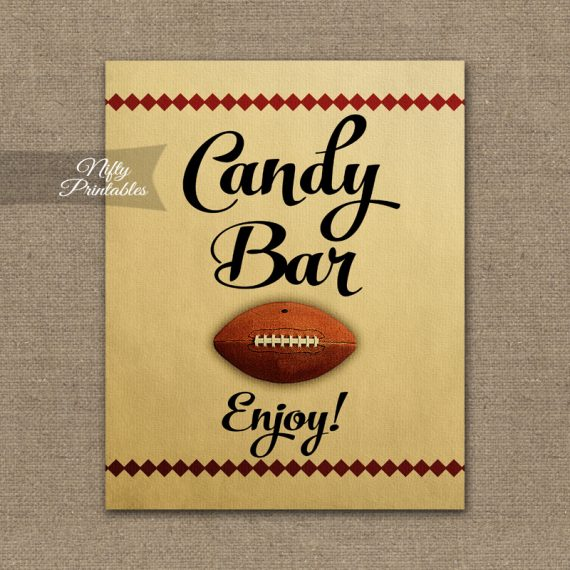 Candy Buffet Sign - Football