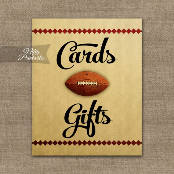 Cards & Gifts Sign - Football