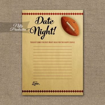 Bridal Shower Date Night Ideas - Football
