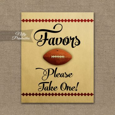 Favors Sign - Football