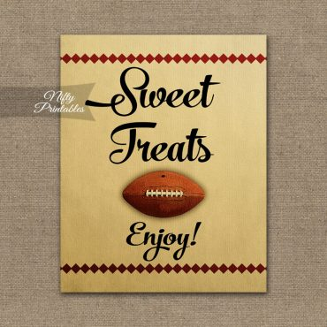 Sweet Treats Dessert Sign - Football