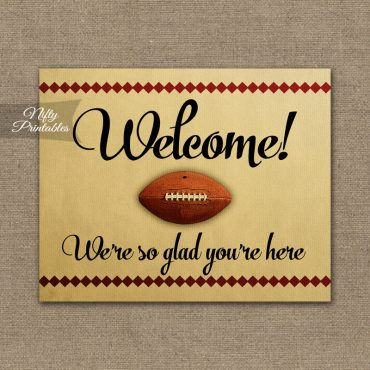 Welcome Sign - Football