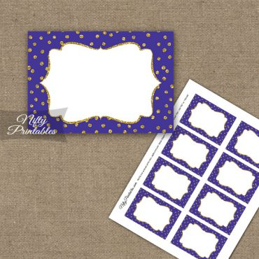 Labels - Purple Gold Dots