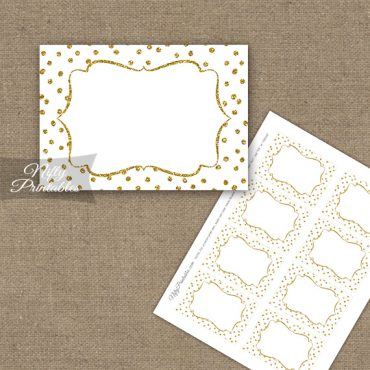 Labels - White Gold Dots