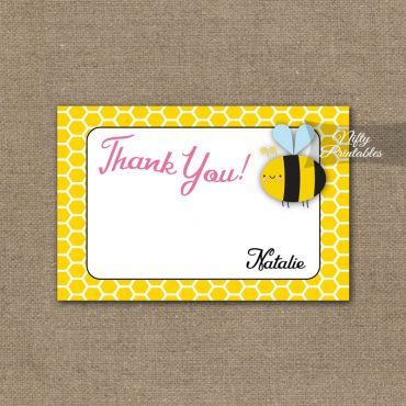 8th Birthday Invitation - Bumble Bee Birthday Invitations