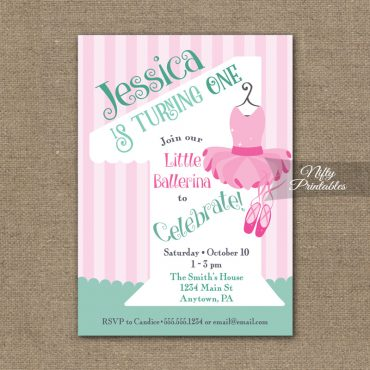 1st Birthday Invitation - Ballet Tutu Invitation