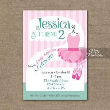 2nd Birthday Invitation - Ballet Tutu Invitation