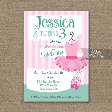3rd Birthday Invitation - Ballet Tutu Invitation