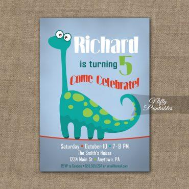 Dinosaur Birthday Invitation - Dino Birthday Party
