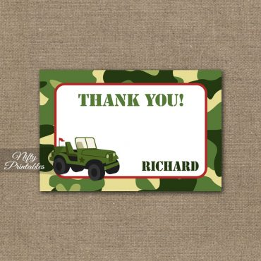 Camo Birthday Invitation - Military Army Birthday Invitation