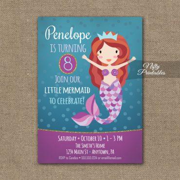 Mermaid Invitation - Mermaid Birthday Party