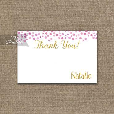 Pink Gold Confetti Birthday Invitation - Teen Tween Invitations