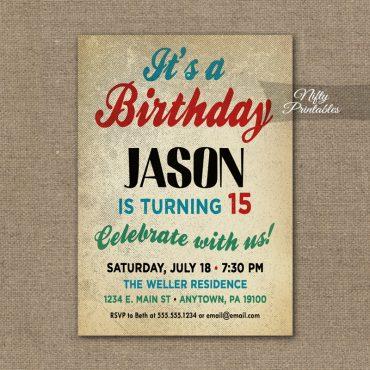 Teen Boys Birthday Invitation - Teen Tween Invitations