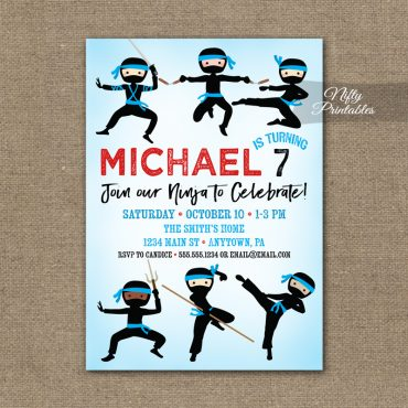 Ninja Birthday Invitation