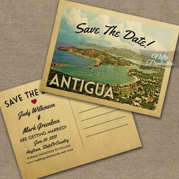 Antigua Save The Date PRINTED