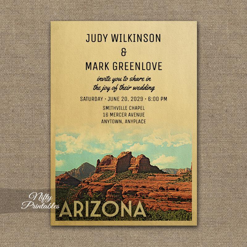 Arizona Wedding Invitation PRINTED