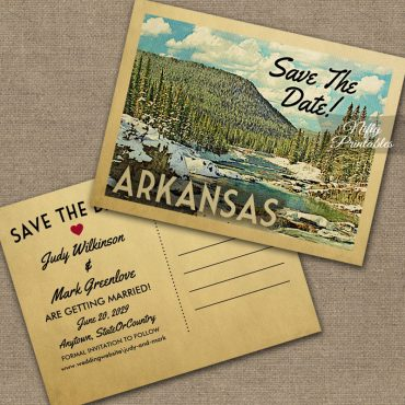 Arkansas Save The Date Snowy Nature PRINTED