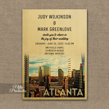Atlanta Wedding Invitation PRINTED