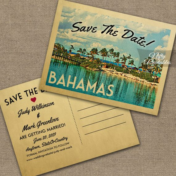 Bahamas Save The Date PRINTED