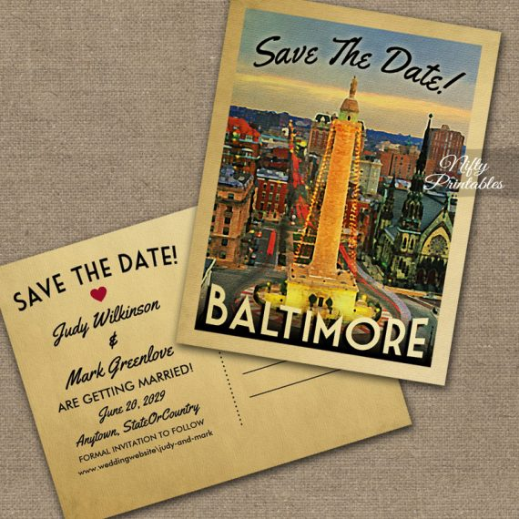 Baltimore Save The Date PRINTED