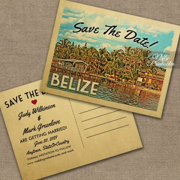 Belize Save The Date PRINTED