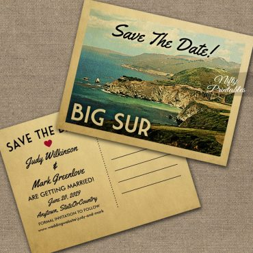 Big Sur Save The Date PRINTED