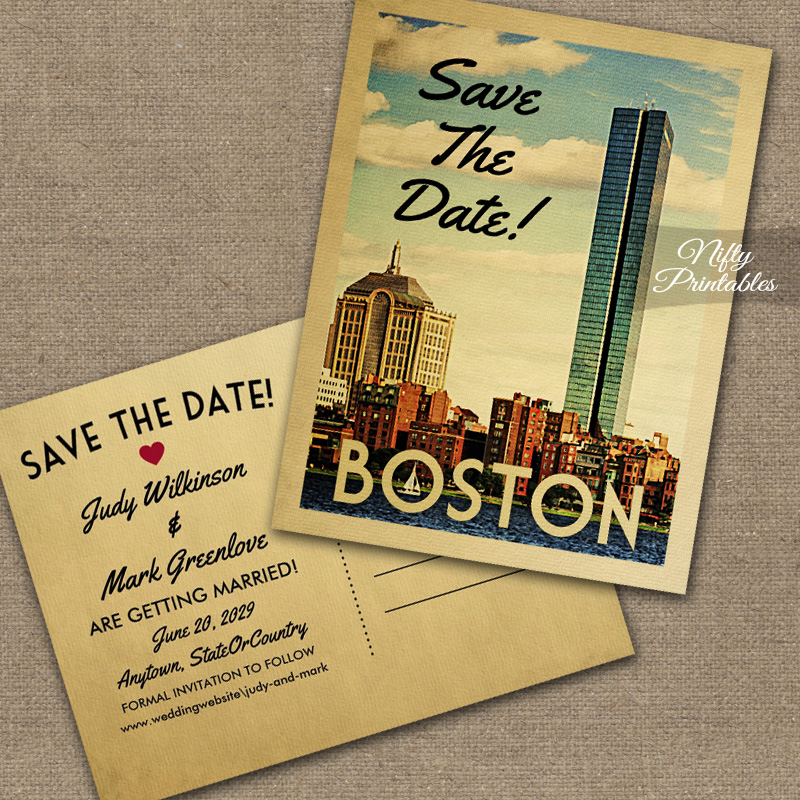 Boston Save The Date PRINTED