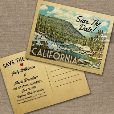 California Save The Date Snowy Nature PRINTED