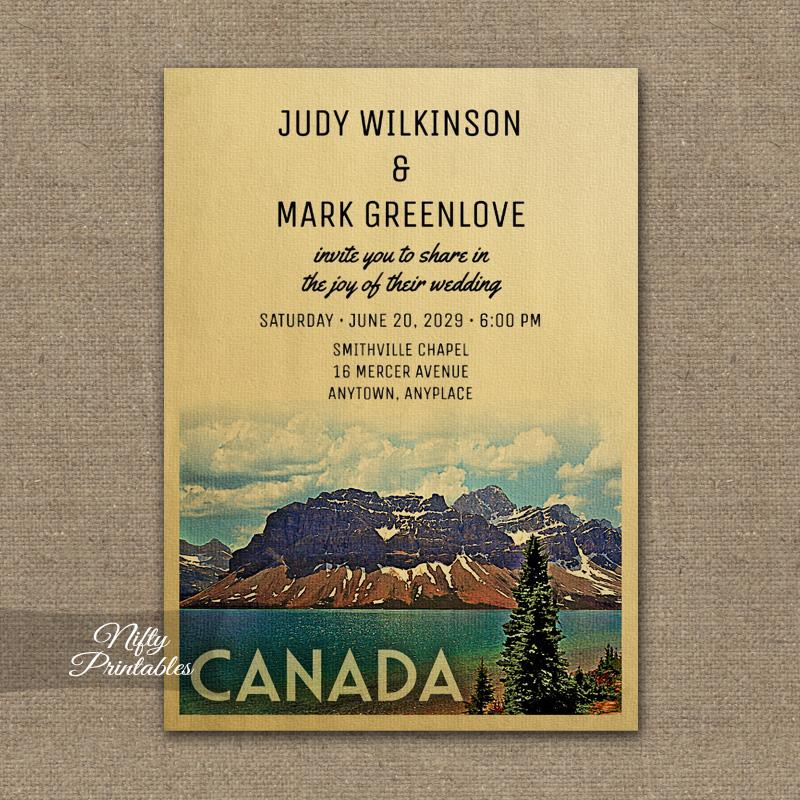 Canada Wedding Invitation PRINTED