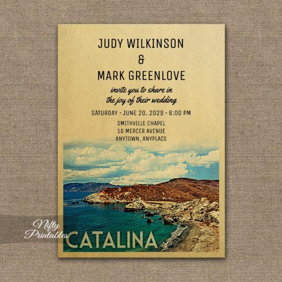 Catalina Wedding Invitation PRINTED