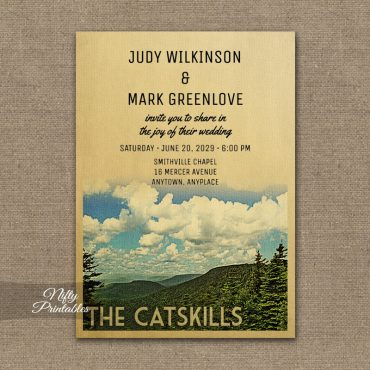 Catskills Wedding Invitations PRINTED