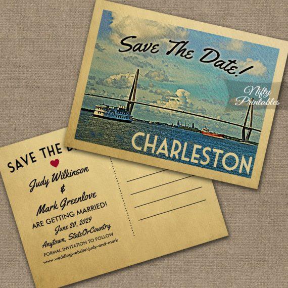 Charleston Save The Date PRINTED