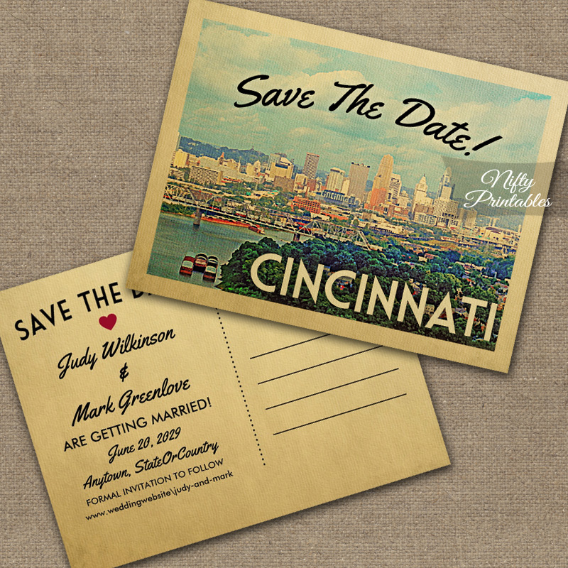 Cincinnati Save The Date PRINTED