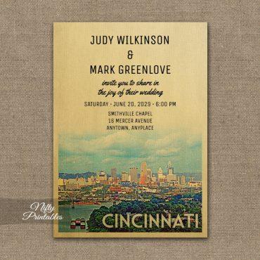 Cincinnati Wedding Invitations PRINTED