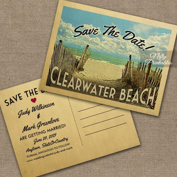 Clearwater Beach Save The Date Beach PRINTED