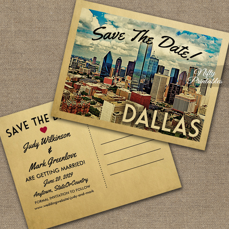 Dallas Save The Date PRINTED
