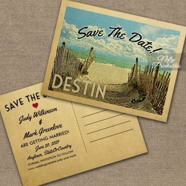 Destin Save The Date Beach PRINTED
