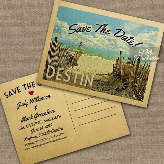 Destin Save The Date Beach PRINTED