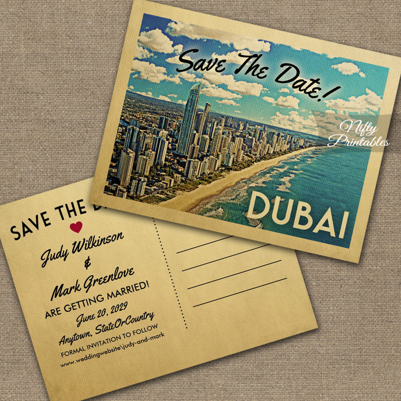Dubai Save The Date PRINTED