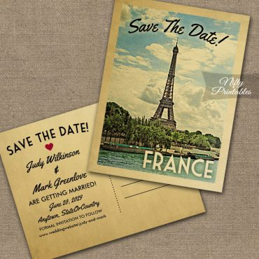 France Save The Date PRINTED
