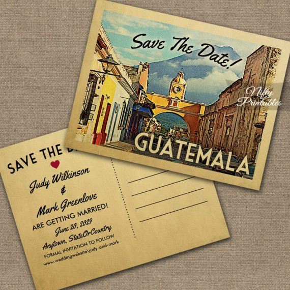 Guatemala Save The Date PRINTED