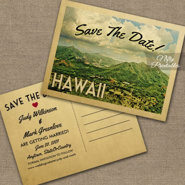 Vintage Travel Save The Dates