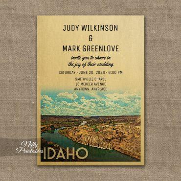 Idaho Wedding Invitation PRINTED