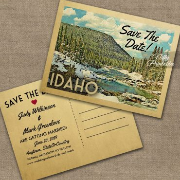 Idaho Save The Date Snowy Nature PRINTED